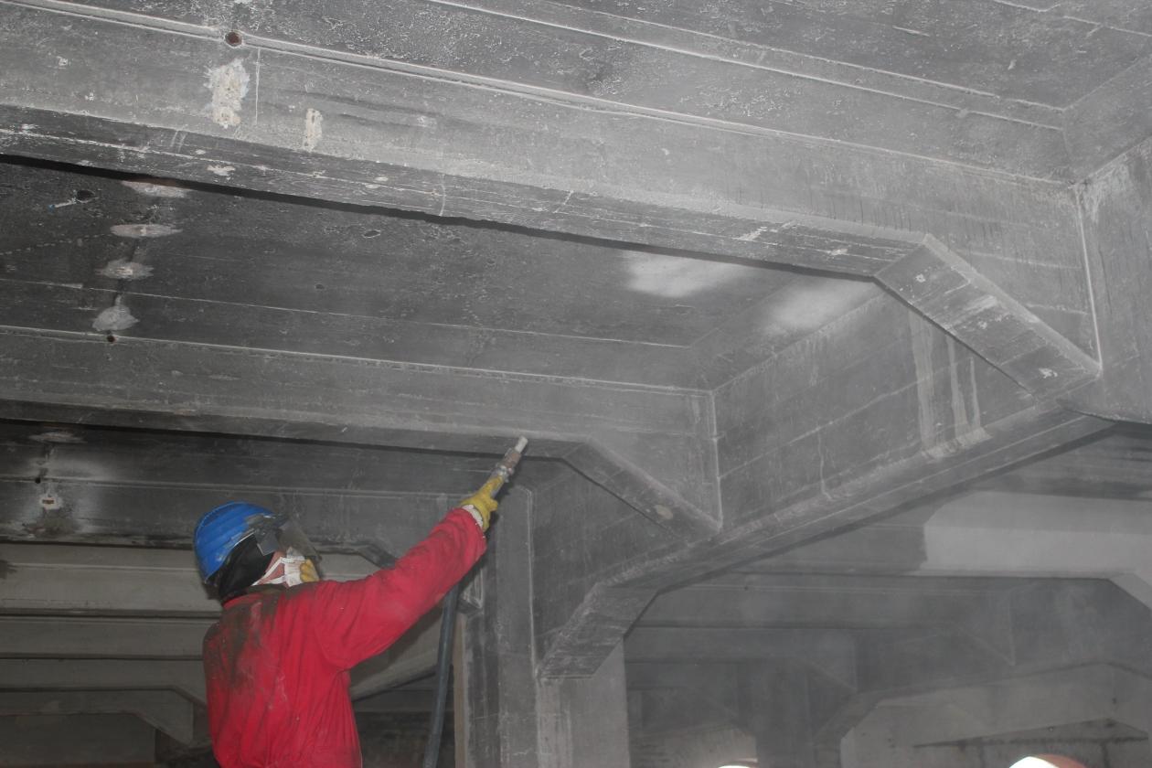 Stahlbeton Sandstrahlen